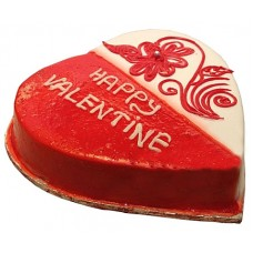 White Forest Valentine Heart Cake 2lbs - For Lahore Only