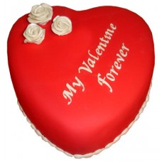 Red Valentine Heart Cake 2lbs - For Lahore Only