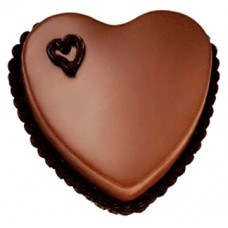 Valentine Heart Chocolate Cake 2lbs - For Lahore Only