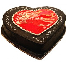Chocolate Heart Cake 2lbs - For Lahore Only