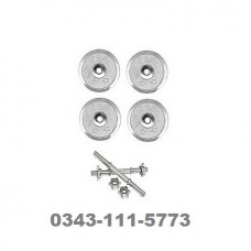 Adjustable Dumnells kit with Rods-silver