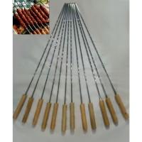 12 Pcs Long Chrome Plated BBQ Grill Sticks