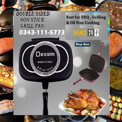 Dessini Double Sided Grill Pan in Pakistan