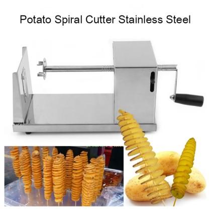 Potato Spiral Cutter Machine Stainless Steel